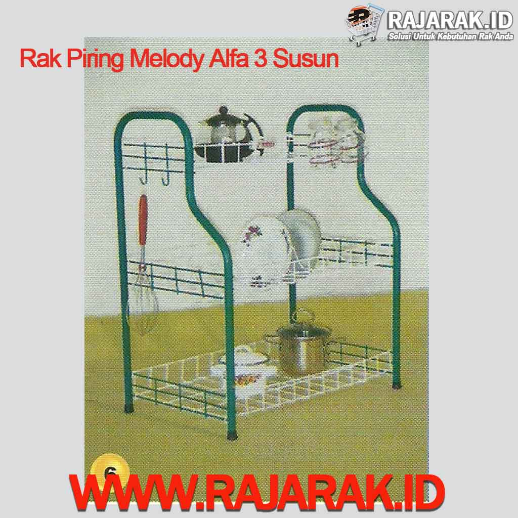 Rak Piring Melody Alfa 3 Susun