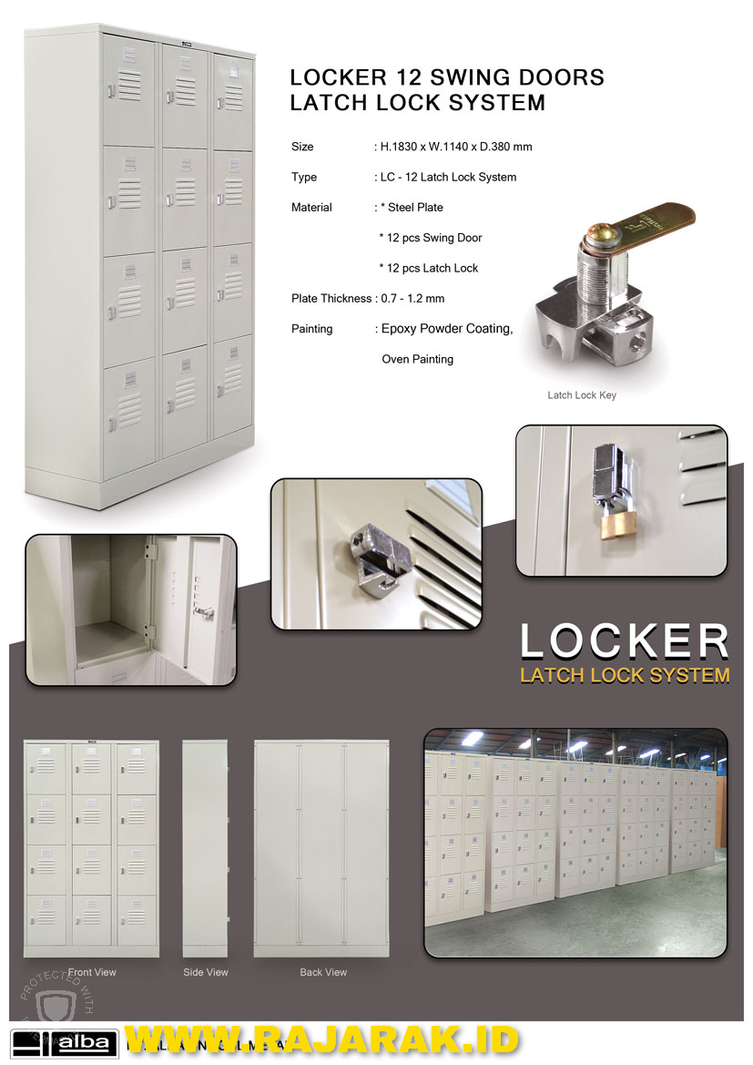 ALBA LOCKER TIPE LC-12 LATCH LOCK SYSTEM