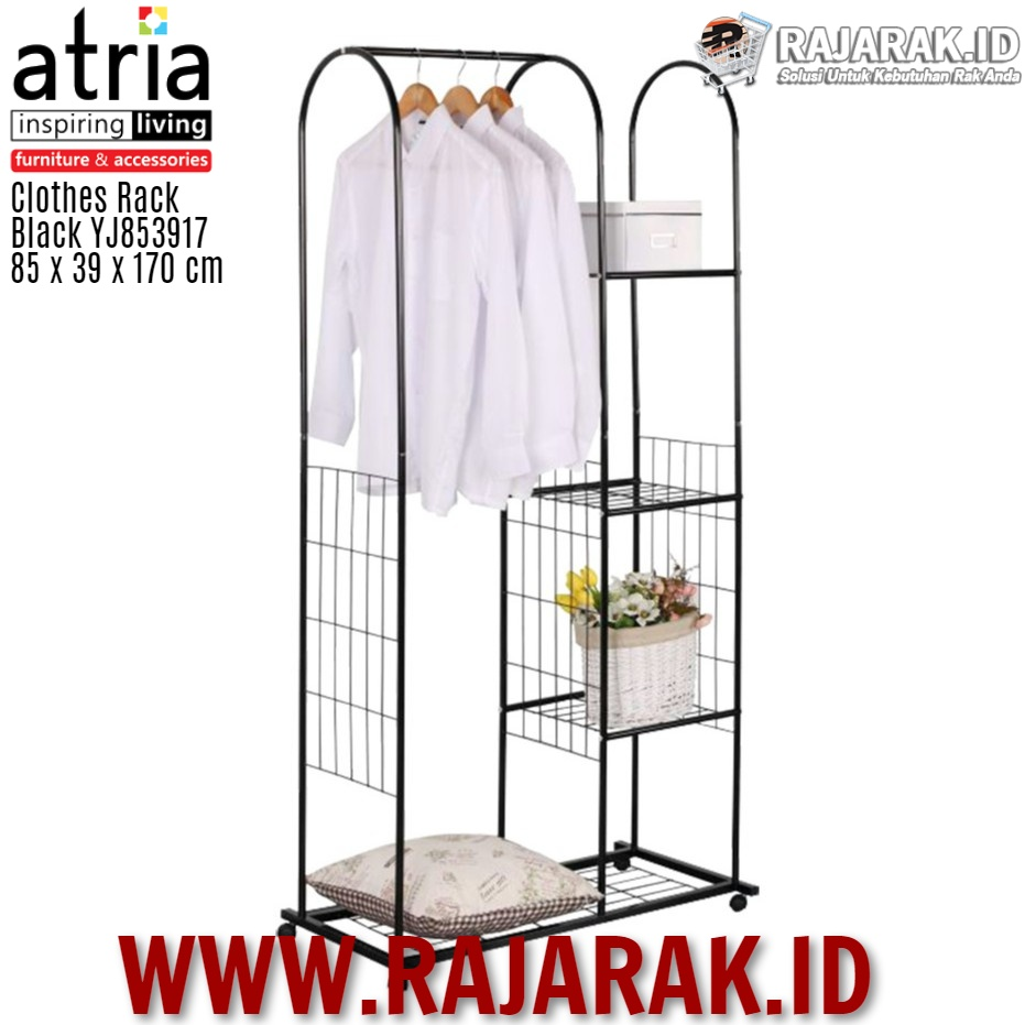 ATRIA – CLOTHES RACK BLACK TYPE YJ853917