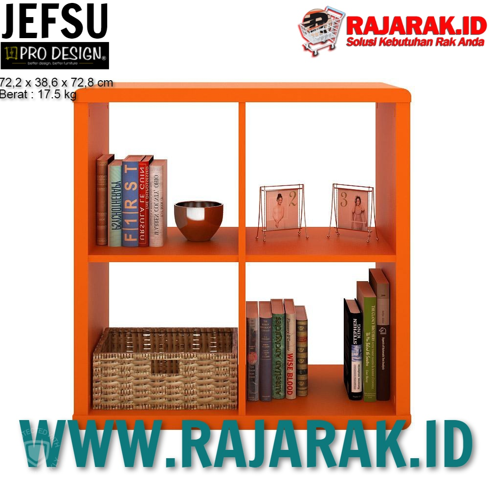 PRO DESIGN – JEFF RAK PAJANGAN SERBAGUNA – TYPE ORANGE JEFSU 2X2 JB