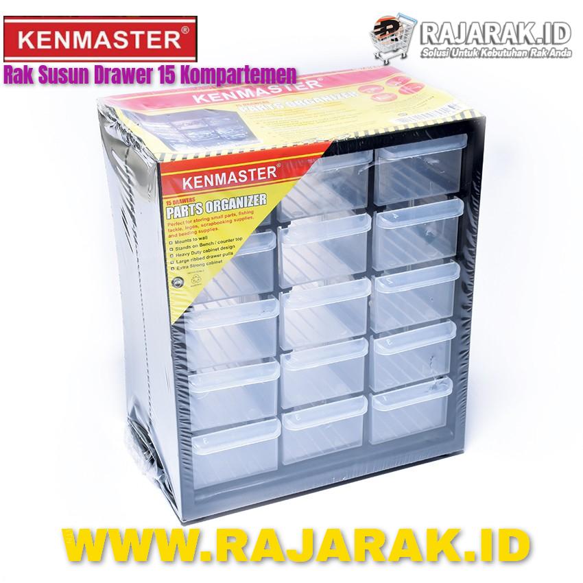 Kenmaster Rak Susun Drawer 15 Kompartemen | Rajarak.Id