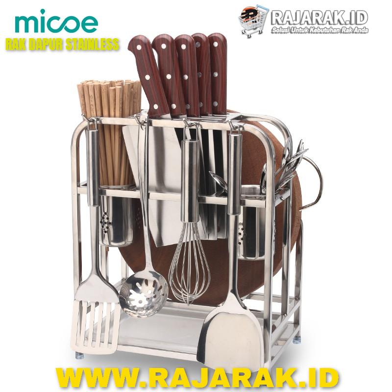 MICOE RAK DAPUR RAK PISAU RAK TALENAN STAINLESS(1)