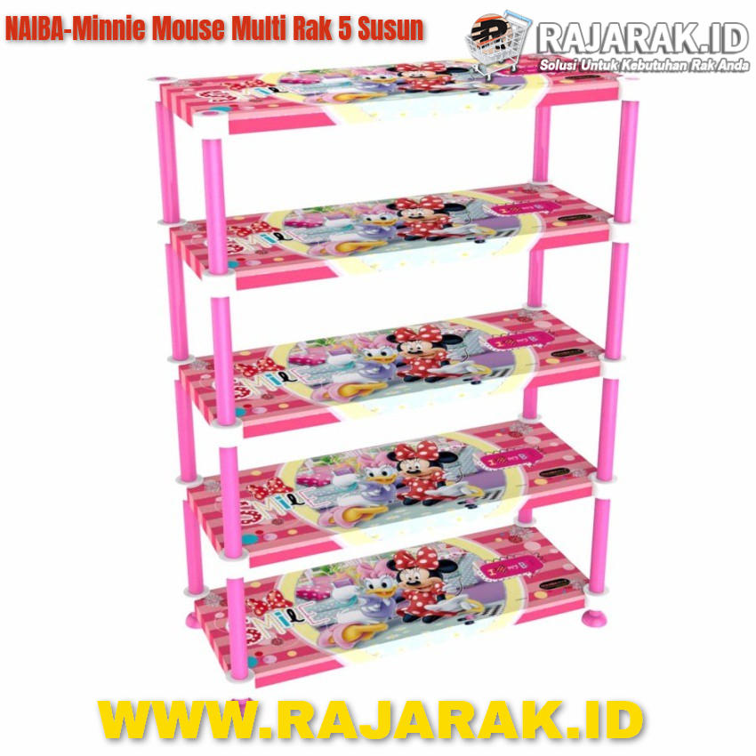 Naiba Minnie Mouse Multi Rak 5 Susun