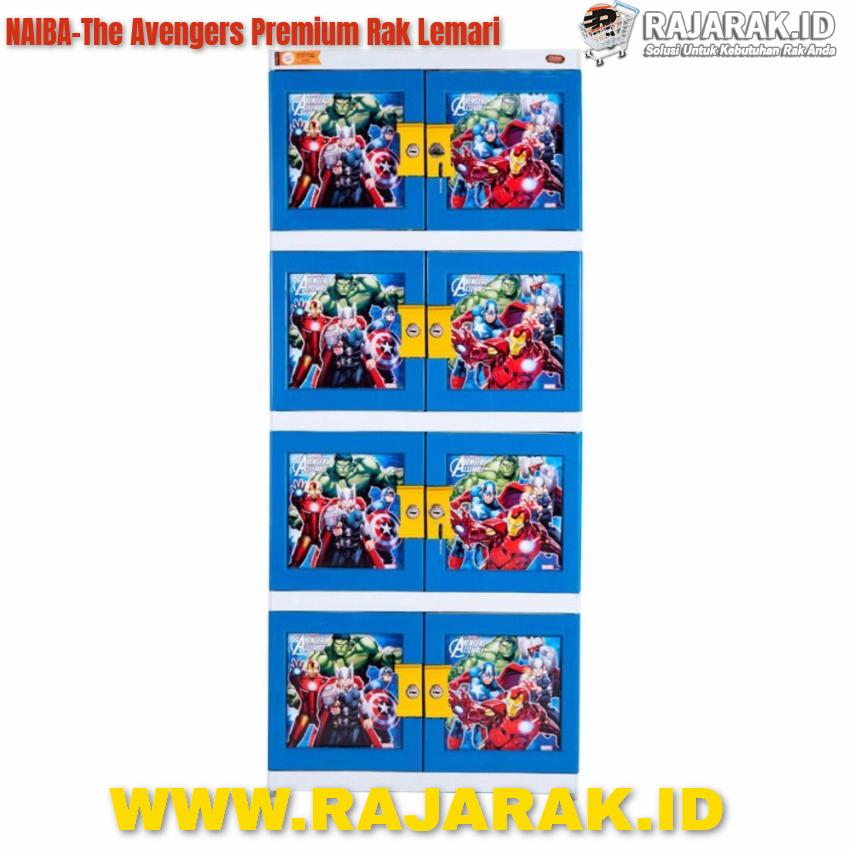 Naiba The Avengers Premium Rak Lemari Baju Berkunci
