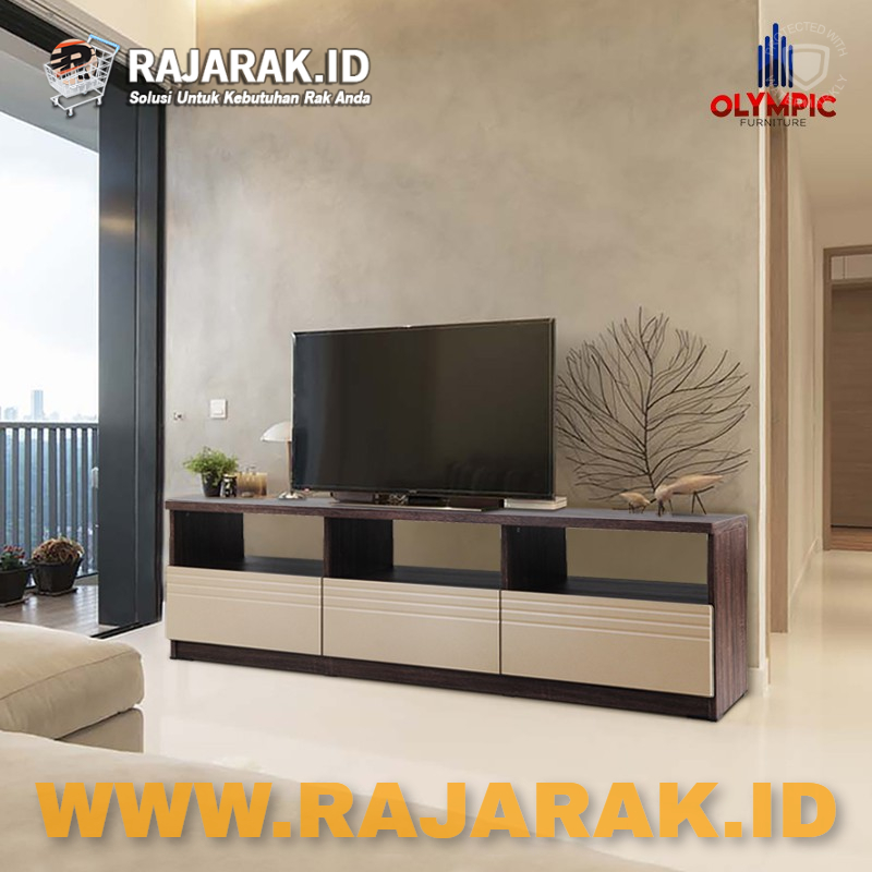 OLYMPIC MEJA TV SERIES AUDIO VISUAL RACK - RAK TV AVR LIGNUM