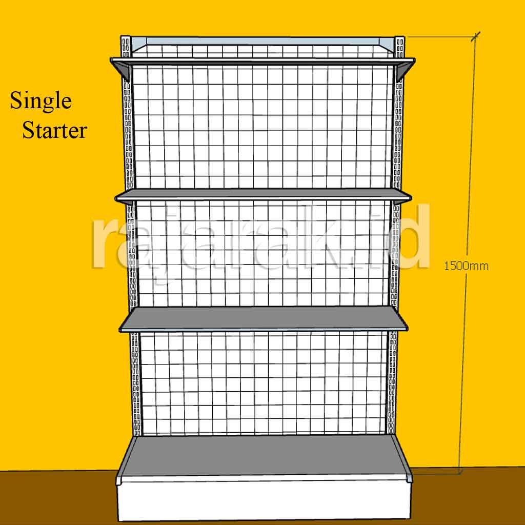 Rak Minimarket Toko Single Starter 150 cm
