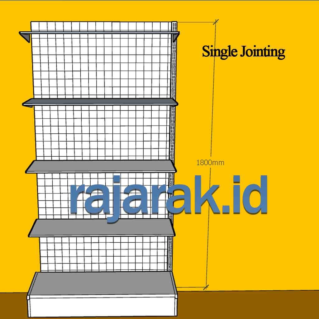 Rak Minimarket Single Jointing Tinggi 180 cm