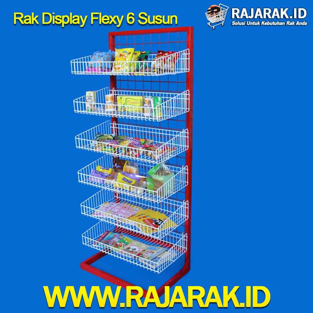 Rak Display Flexy 6 Susun