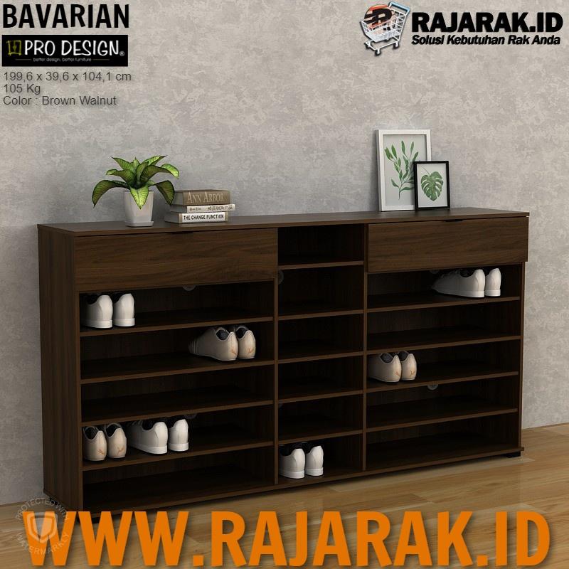 PRO DESIGN – BAVARIAN BUFET | RAK SEPATU SANDAL 6 PINTU OAK CLOVIS TYPE SBSR 200