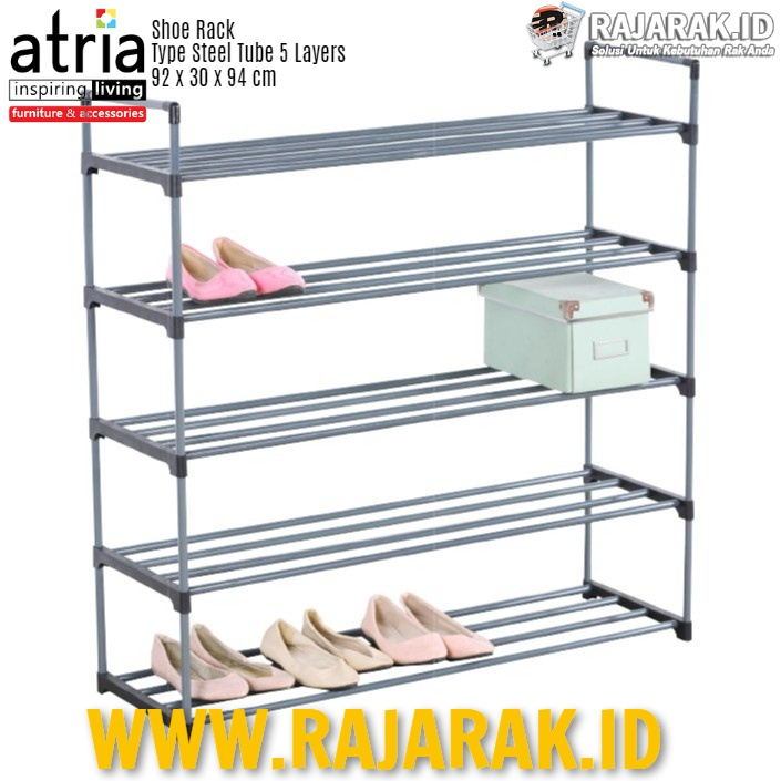 ATRIA – SHOE RACK STEEL TUBE 5 LAYERS