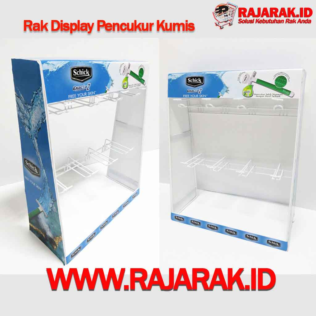 RAK DISPLAY PENCUKUR KUMIS