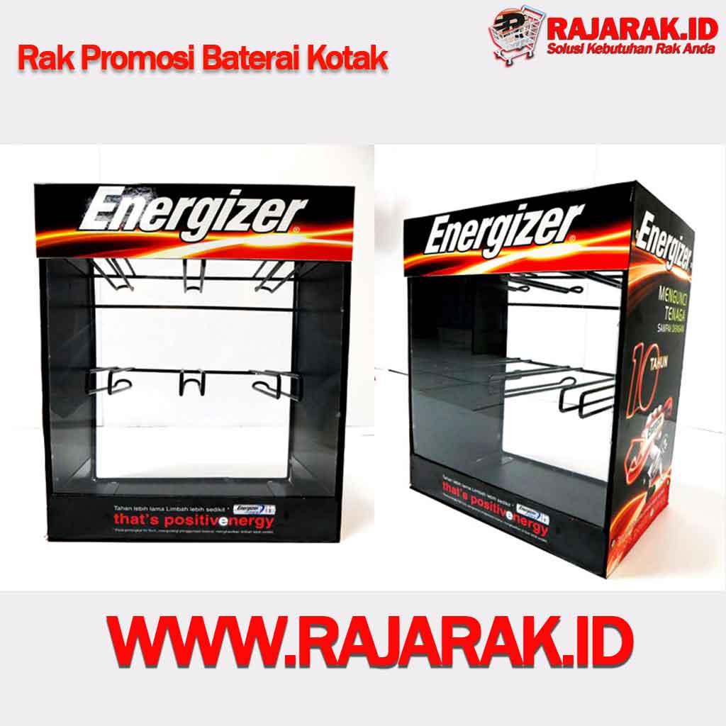 Rak Promosi Baterai kotak