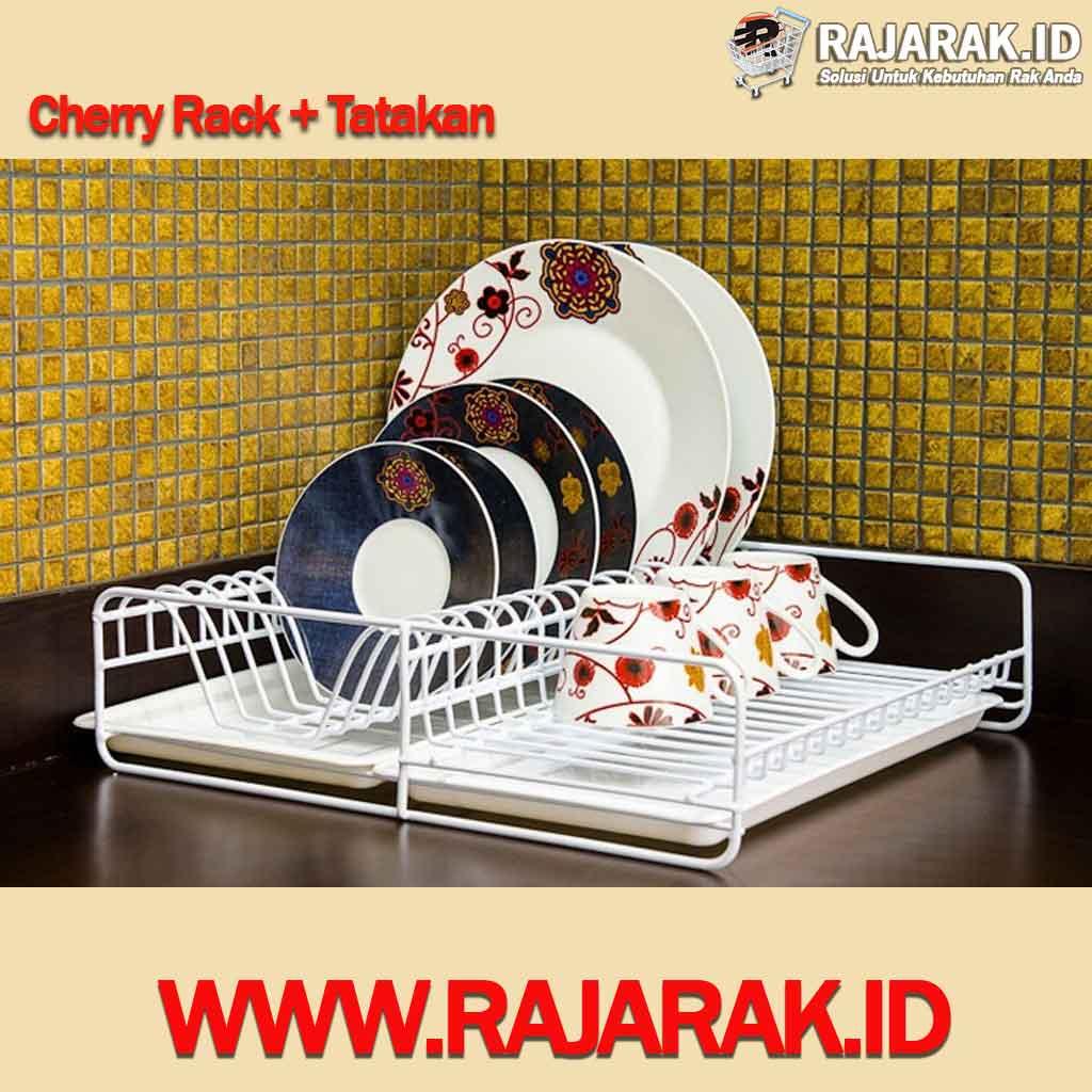 Modelline rak piring Gelas tipe Cherry Rack + Tatakan