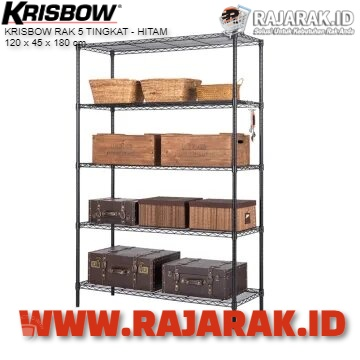 KRISBOW RAK 5 TINGKAT 120 x 45 x 180 cm – HITAM