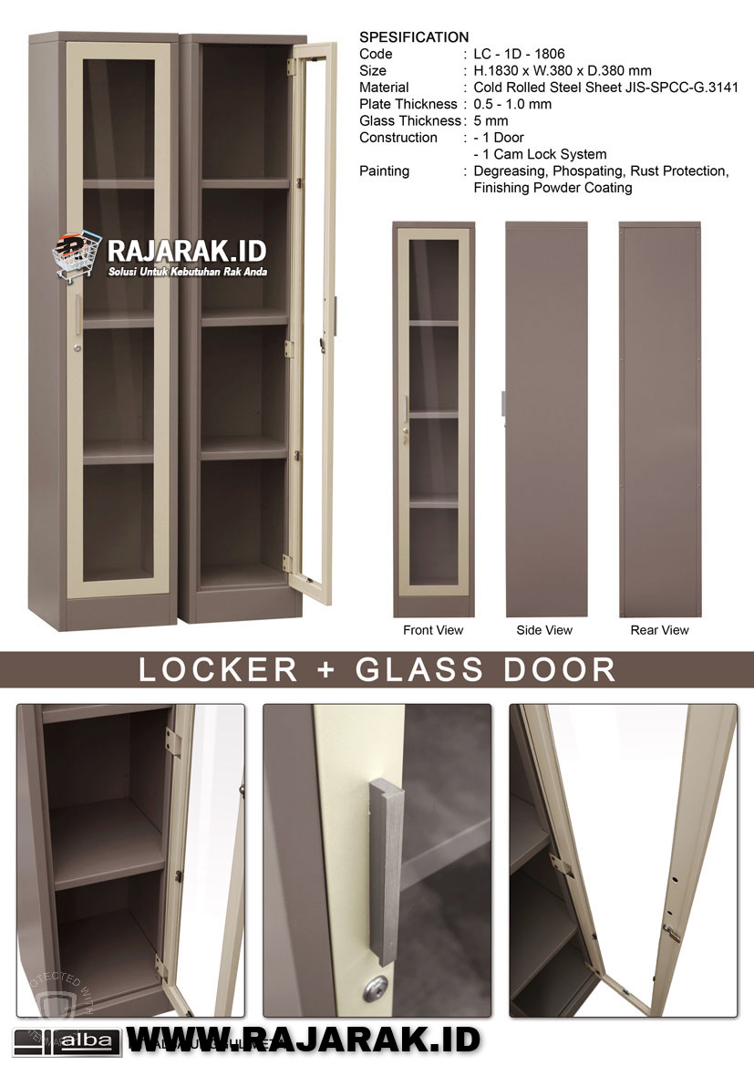 ALBA LOCKER + GLASS DOOR TIPE LC-1D-1806