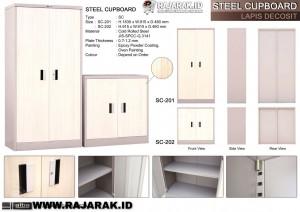 ALBA STEEL CUPBOARD - LEMARI BESI DECOSIT TIPE SC-201 & 202