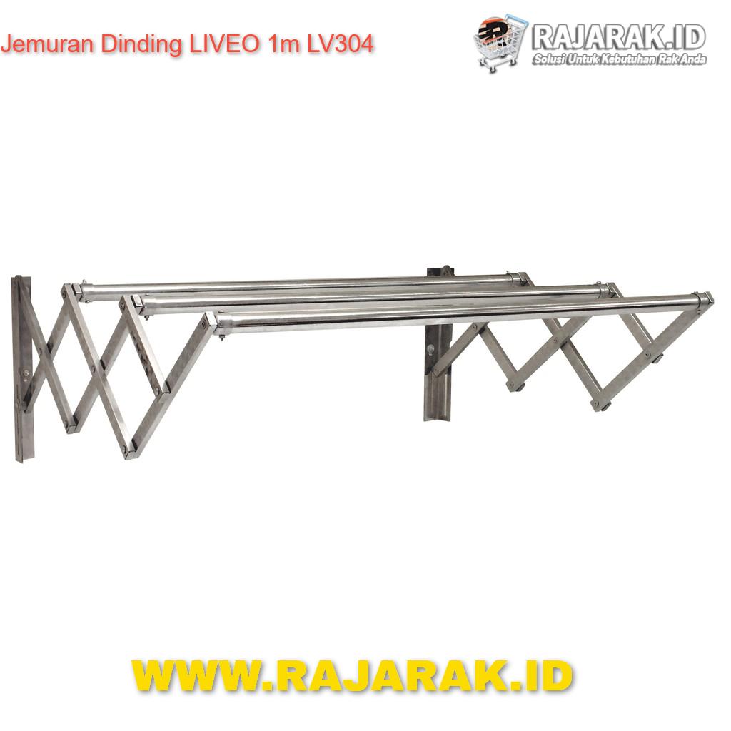 RAK JEMURAN DINDING LIVEO 100CM TIPE LV-304