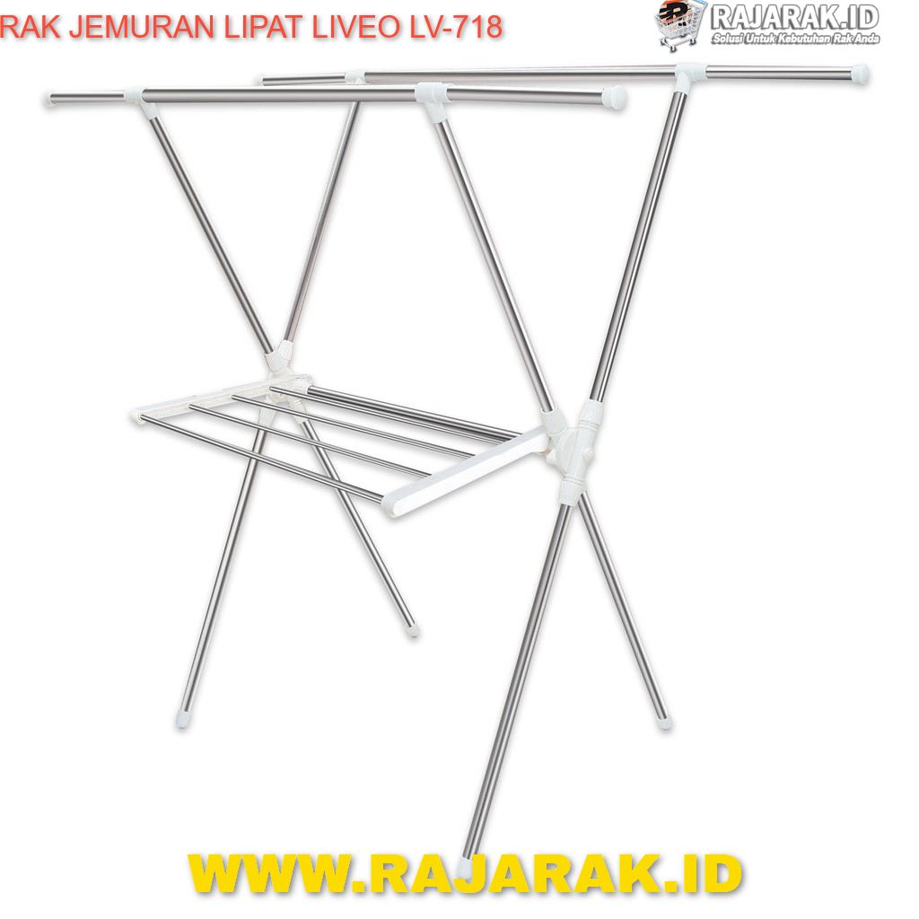 RAK JEMURAN LIPAT LIVEO TIPE LV-718