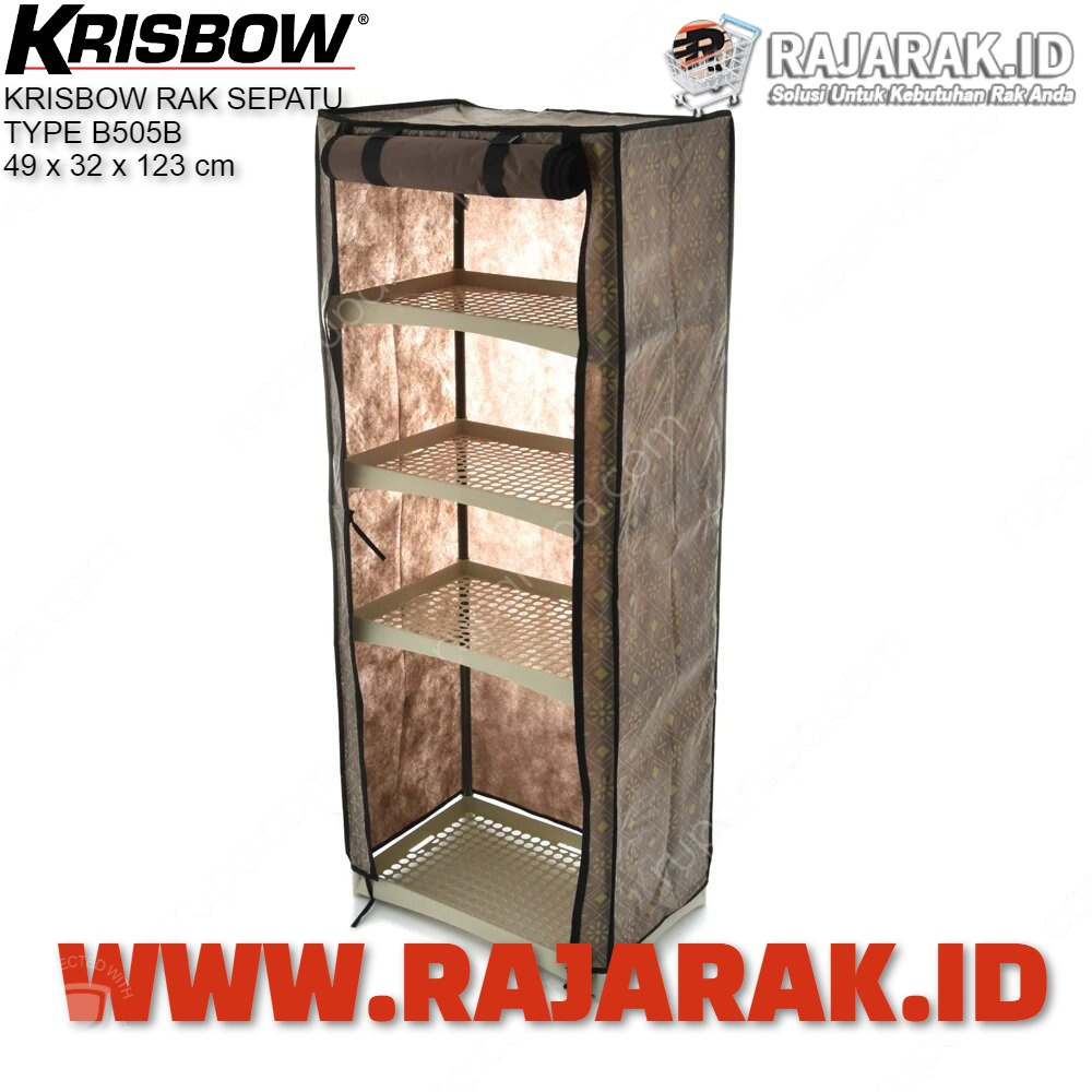 KRISBOW RAK SEPATU – TYPE SHOE RACK BROWN B505B | COKELAT