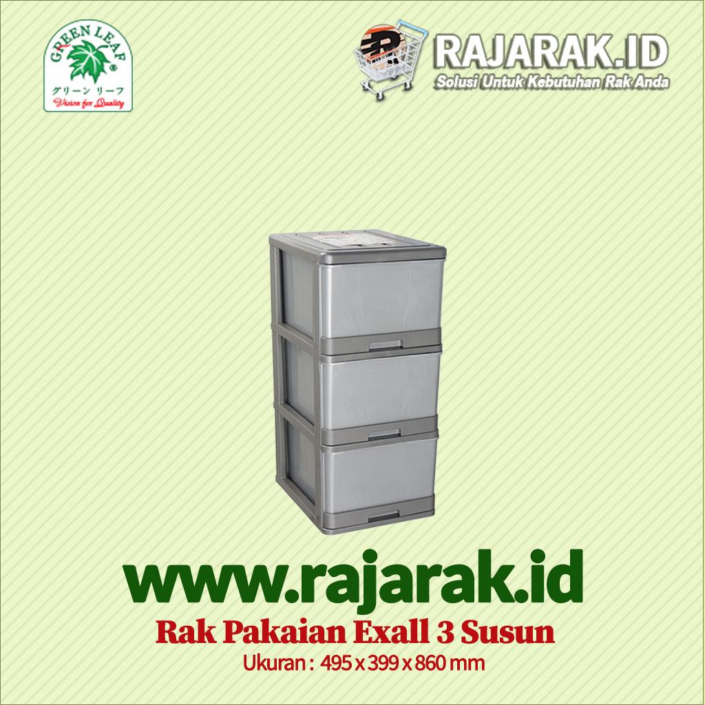 RAK BAJU / PAKAIAN GREEN LEAF TIPE EXALL 3 SUSUN
