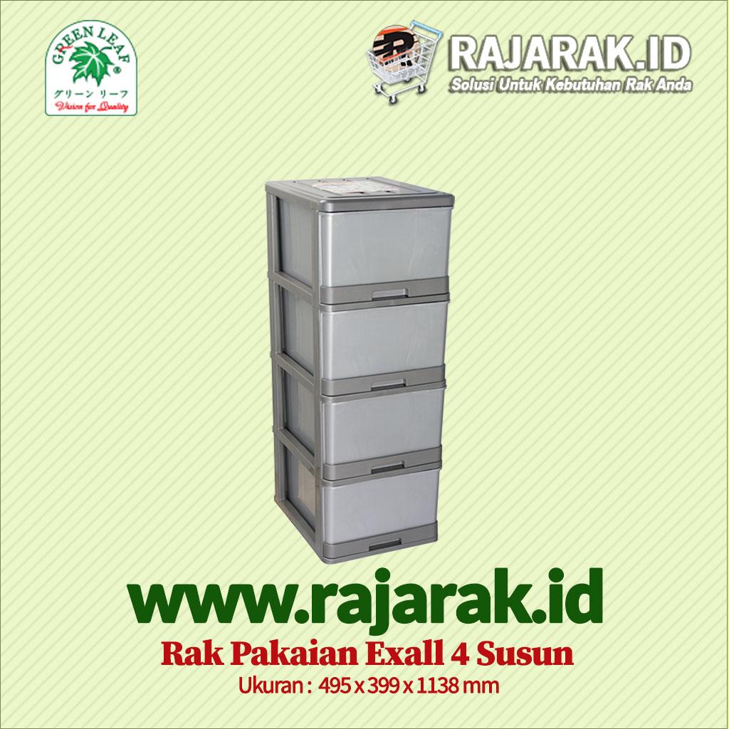 RAK BAJU / PAKAIAN GREEN LEAF TIPE EXALL 4 SUSUN