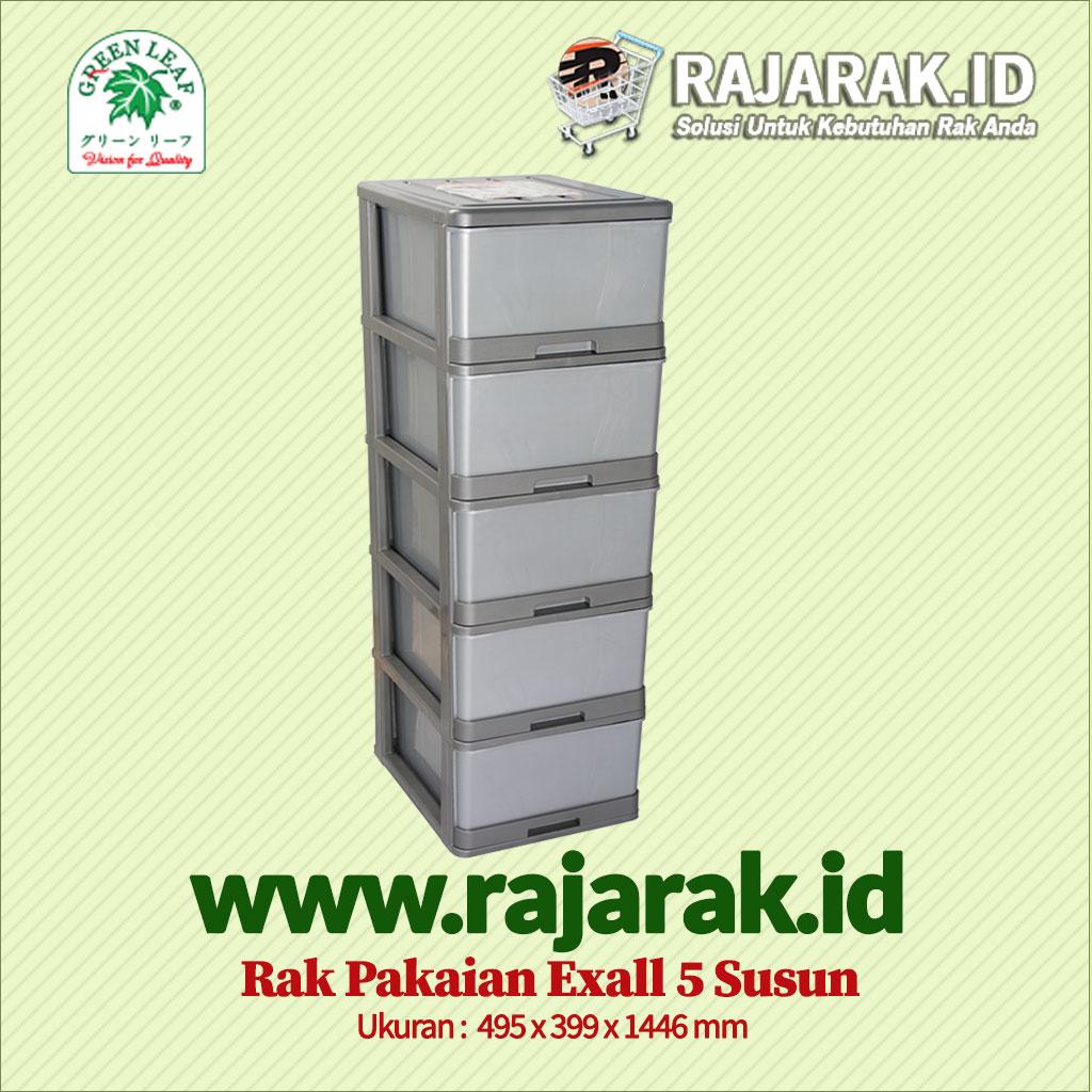 RAK BAJU / PAKAIAN GREEN LEAF EXALL 5S