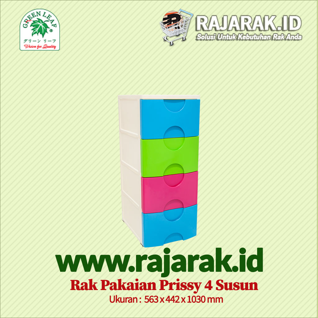 RAK PAKAIAN / BAJU GREEN LEAF TIPE PRISSY 4 SUSUN